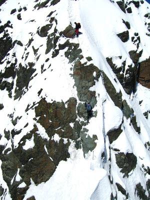 Kletterpassage am Großglockner