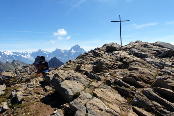 Am Gipfel des Torrenthorn, 2998 M