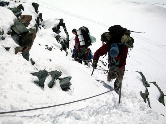 Abseilen am Mürztaler Steig