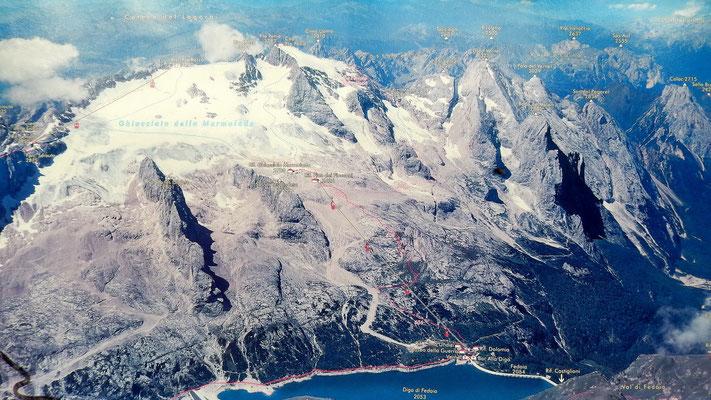 Die Marmolada-Nordseite