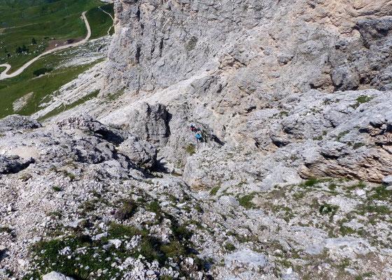 Tiefblick aus der Felszone