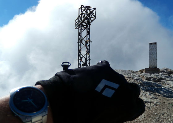 Gipfel der Marmolada di Penìa - 3343 M