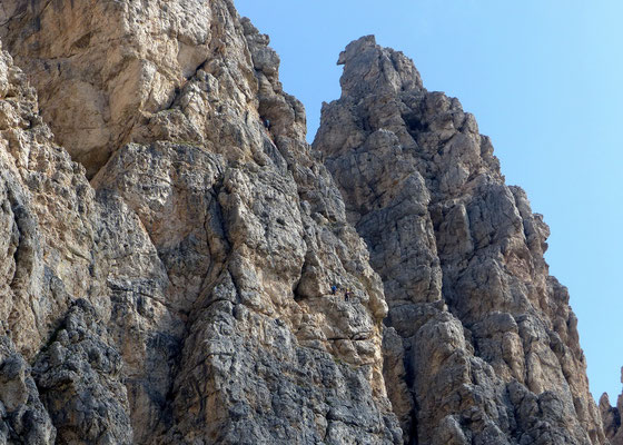 Kletterer in der Südwand des Gran Cir