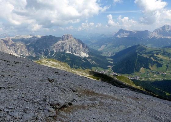 Abstieg vor Sas Songher - 2665 M