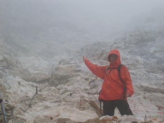 Richtung Gipfelgrat