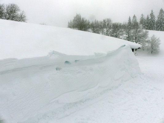 Schneeverfrachtungen