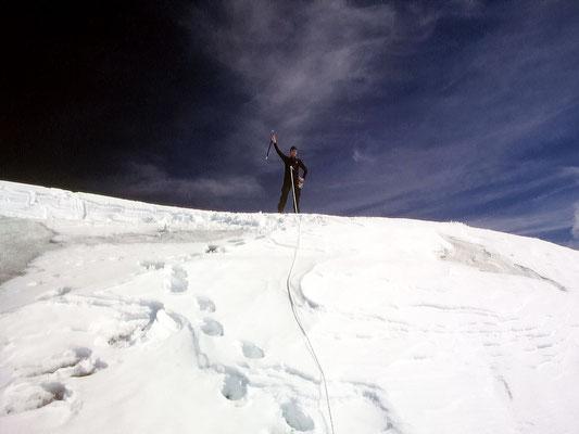 Thomas am Gipfel - 3790 M