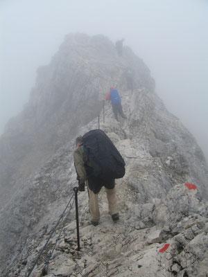 Auf dem Gipfelgrat