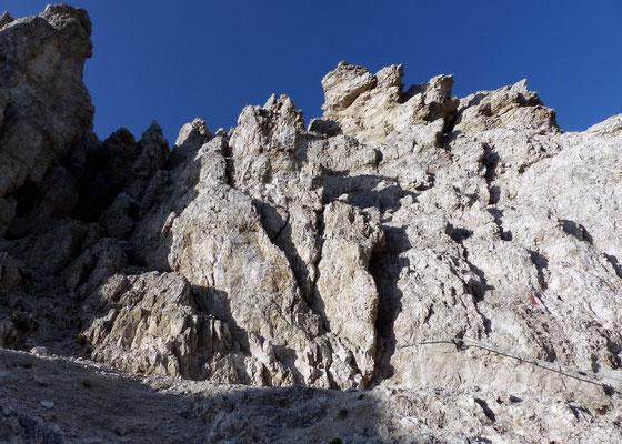 Zackige Gipfelzone