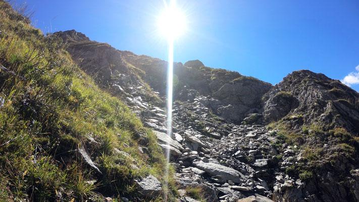Abstieg  im Val la Buora