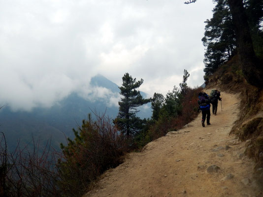 Aufstieg nach Kyangjuma