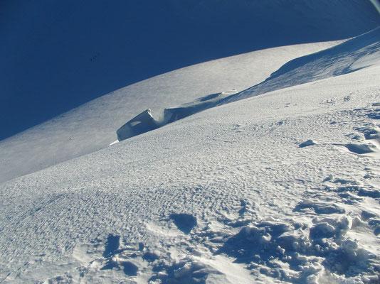 Parrotspitze - Nordwand-Gipfelblick