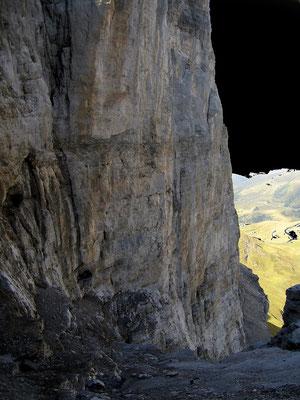 Klettersteig - Wandmitte