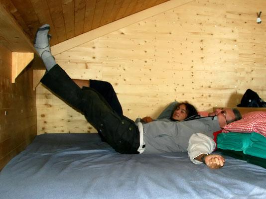 Matratzenlager auf Mischabel