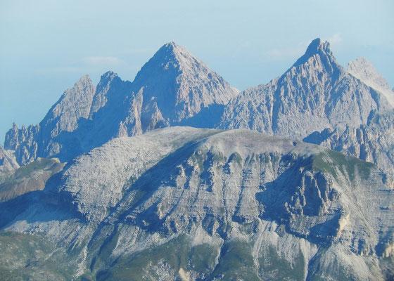 Gipfelblick auf die Geislerspitzen