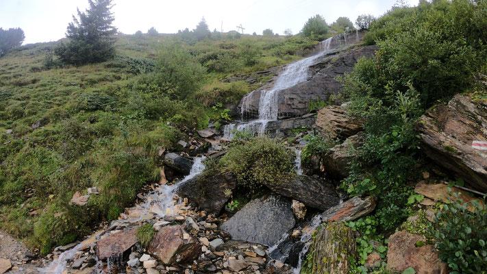 Steile Alpweiden nach Zervreila