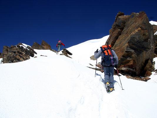 Letzter Aufschwung zum Gipfel