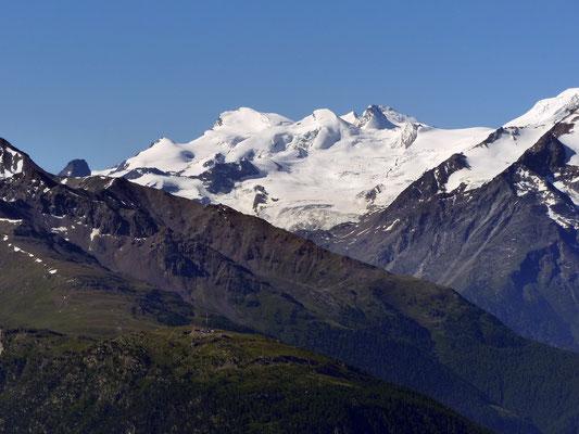 Gipfelblick - Allalingruppe