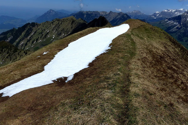 Arvigrat - Vom Gipfel des Wandelen