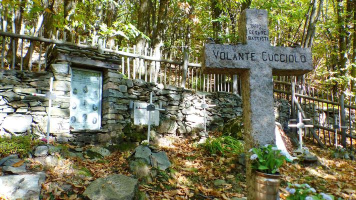 Denkmal u. Gräber der neun Partisanen