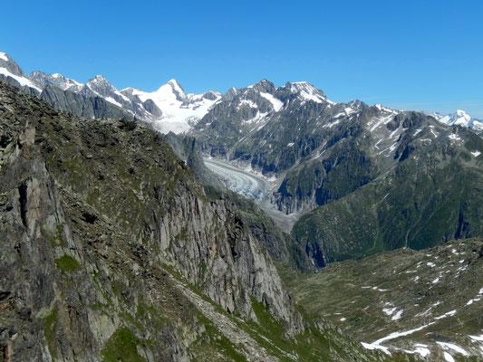 Gipfelblick - Fieschergletscher