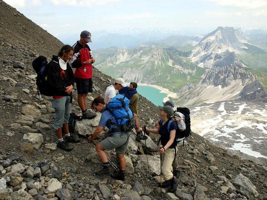 Höhe Schesaplanasteig - 2600 M