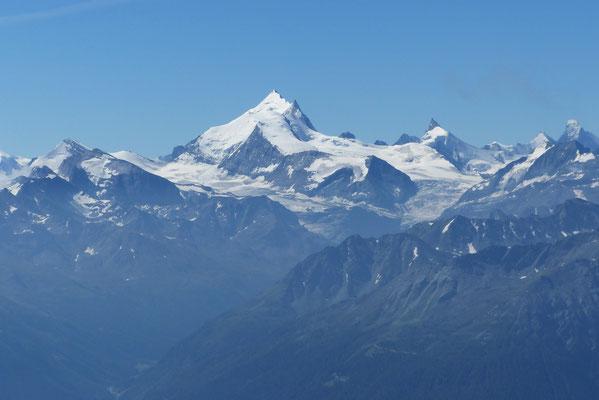 Gipfelblick: Weißhorn, Zinalrothorn