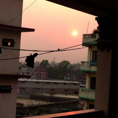 Sonnenuntergang in Kathmandu