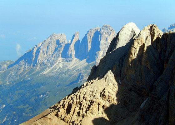 Gipfelblick in die Langkofelgruppe