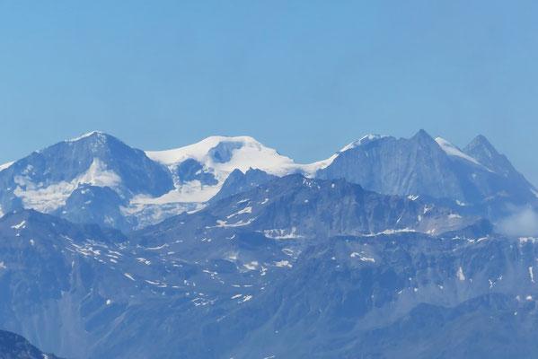 Gipfelblick: Pigne d'Arolla, La Serpentine, Mont Blanc de Cheilon