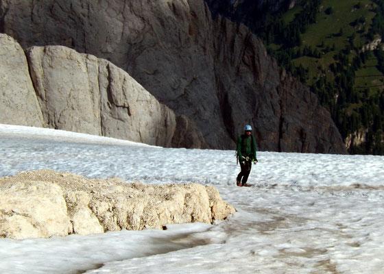 Abstieg - Ghiacciaio della Marmolada