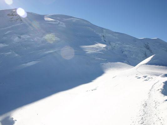 Blick in die Dôme-Nordflanke