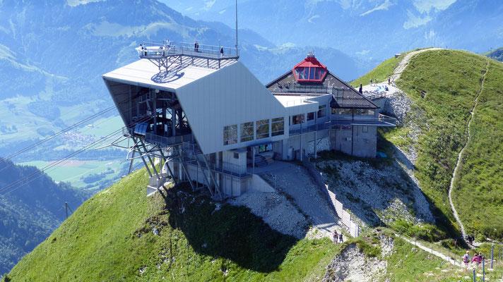 Gipfelblick: Bergstation