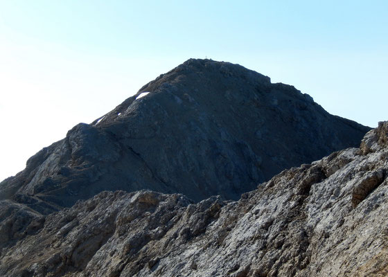 Felsgrat zum Gipfel der Cima Ombretta