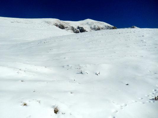Erster Blick zum Le Grammont-Gipfel