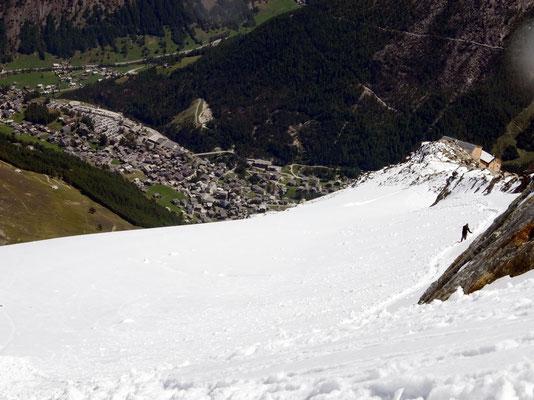 Abstieg - Hohbalmgletscher