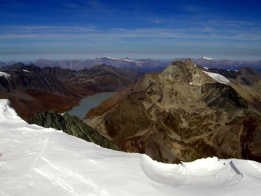 Blick über die Gipfelwächte
