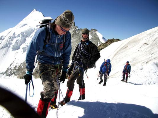 Abstieg vor Weisshorn - 4506 M