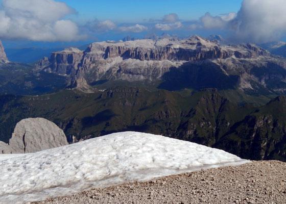 Gipfelblick gen Nord - Sellastock