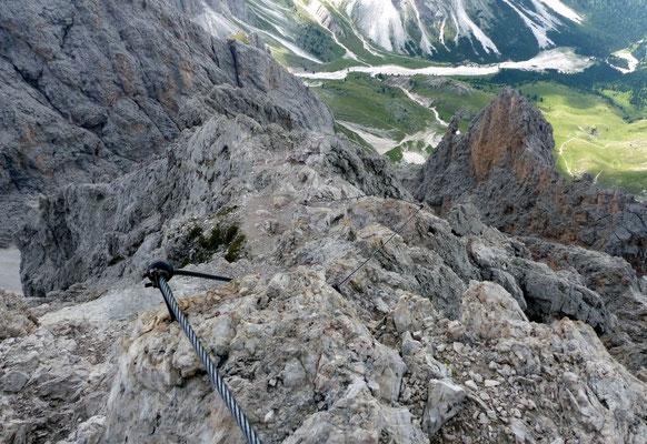 Abstieg im Gipfelbereich