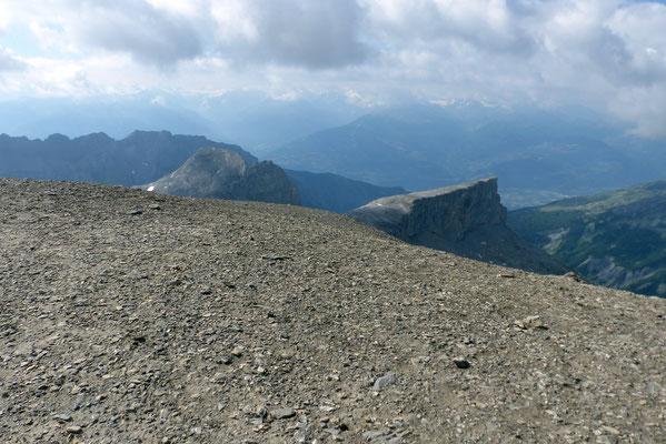 Gipfelblick nach Süd - Le Sérac, 2817 M u. Le Sublage, 2735 M