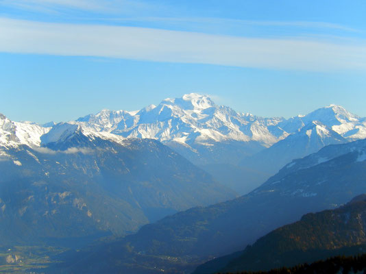 Gipfelblick - Grand Combin-Massiv