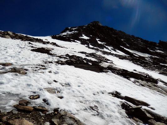 Eisverpackte Obere Gratflanke