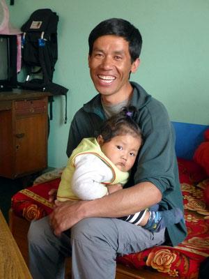Bikram mit Sohn