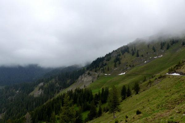 Die Westseite des Berges