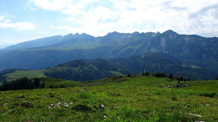 Gipfelblick: Kurfirsten und Leistkamm