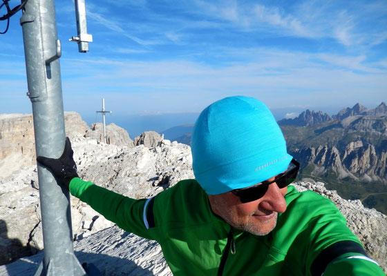Am Gipfel der Cima Pisciadù - 2985 M