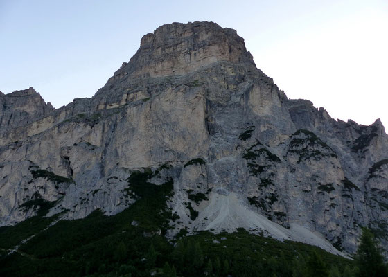 Sas Songher-Westwand - Vom Col Pradat, 2038 M
