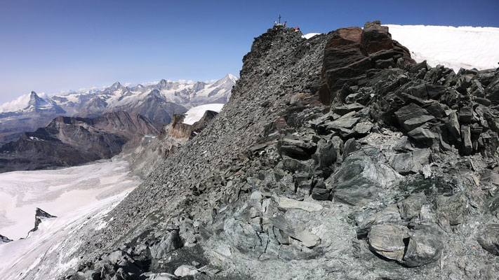 Gipfelhang - Blick vom Gipfelgrat