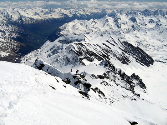 Gipfelblick zum Kleinglockner